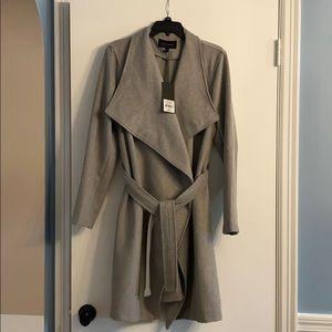 Harve Benard gray wrap coat